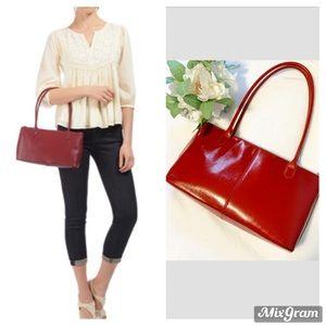 HOBO the original Lola red leather shoulder bag